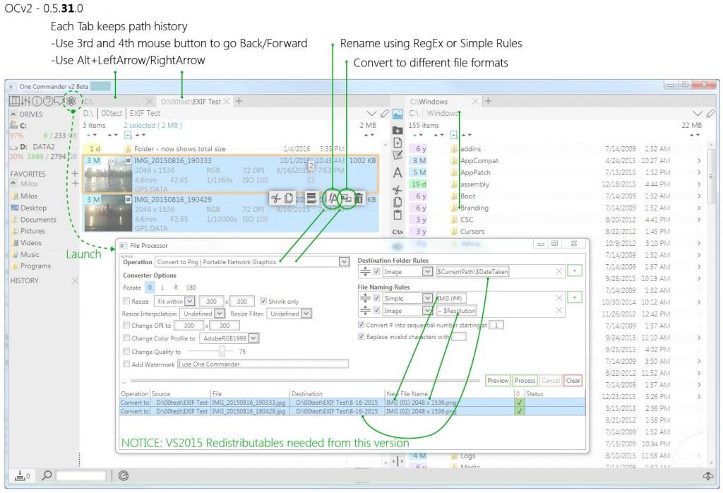 OCv2-FileProcessor,BatchRename,ImageConverter